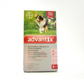 advantix Spot-on dla psów o masie ciała 10-25 kg