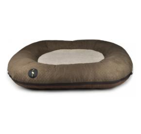 LAUREN design Ponton RICO brązowy pikowany 100/80 cm