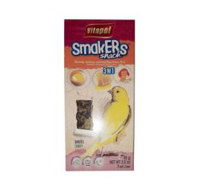 Vitapol Smakers potrójny dla kanarka: miodowy, jajeczny i owocowy