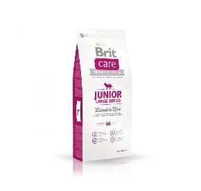 BRIT CARE JUNIOR LARGE BREED LAMB & RICE hipoalergiczna/junior/rasy duże JAGNIĘCINA I RYŻ 1 kg