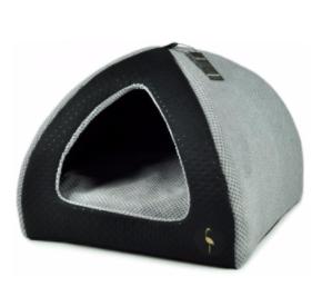 LAUREN design Budka BELLA czarna pikowana + szara 40/40 cm