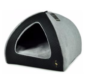 LAUREN design Budka BELLA czarna pikowana + szara 50/50 cm