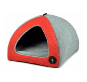 LAUREN design Budka BELLA czerwona pikowana + szara 40/40 cm