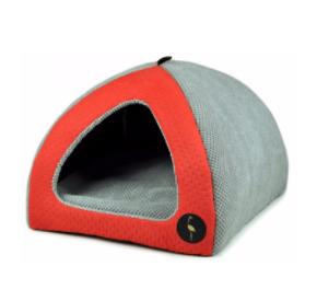 LAUREN design Budka BELLA czerwona pikowana + szara 50/50 cm