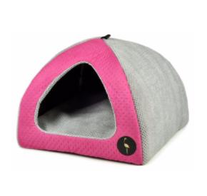 LAUREN design Budka BELLA różowa pikowana + szara 40/40 cm