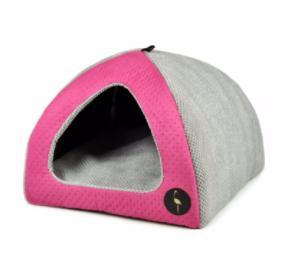 LAUREN design Budka BELLA różowa pikowana + szara 50/50 cm