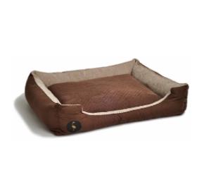 LAUREN design Kanapa CEZAR brązowa pikowana + beżowa 80/70 cm