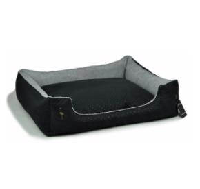 LAUREN design Kanapa CEZAR czarna pikowana + szara 110/90 cm