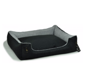 LAUREN design Kanapa CEZAR czarna pikowana + szara 80/70 cm
