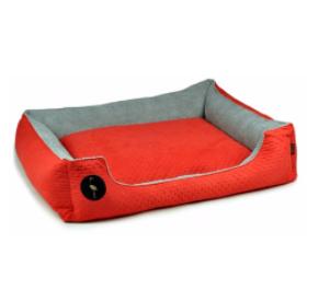 LAUREN design Kanapa CEZAR czerwona pikowana + szara 100/80 cm