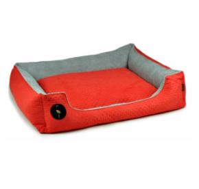 LAUREN design Kanapa CEZAR czerwona pikowana + szara 70/60 cm