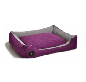 LAUREN design Kanapa CEZAR fioletowa pikowana + szara 110/90 cm