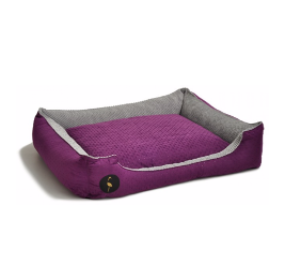 LAUREN design Kanapa CEZAR fioletowa pikowana + szara 60/50 cm