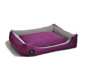 LAUREN design Kanapa CEZAR fioletowa pikowana + szara 80/70 cm