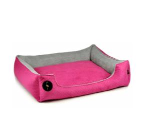 LAUREN design Kanapa CEZAR różowa pikowana + szara 110/90 cm