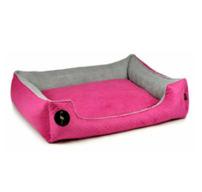 LAUREN design Kanapa CEZAR różowa pikowana + szara 60/50 cm