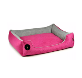 LAUREN design Kanapa CEZAR różowa pikowana + szara 80/70 cm
