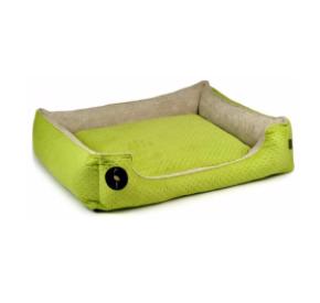 LAUREN design Kanapa CEZAR zielona pikowana + beżowa 100/80 cm