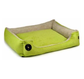 LAUREN design Kanapa CEZAR zielona pikowana + beżowa 50/40 cm