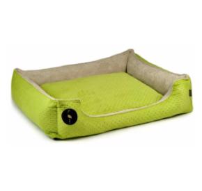 LAUREN design Kanapa CEZAR zielona pikowana + beżowa 70/60 cm