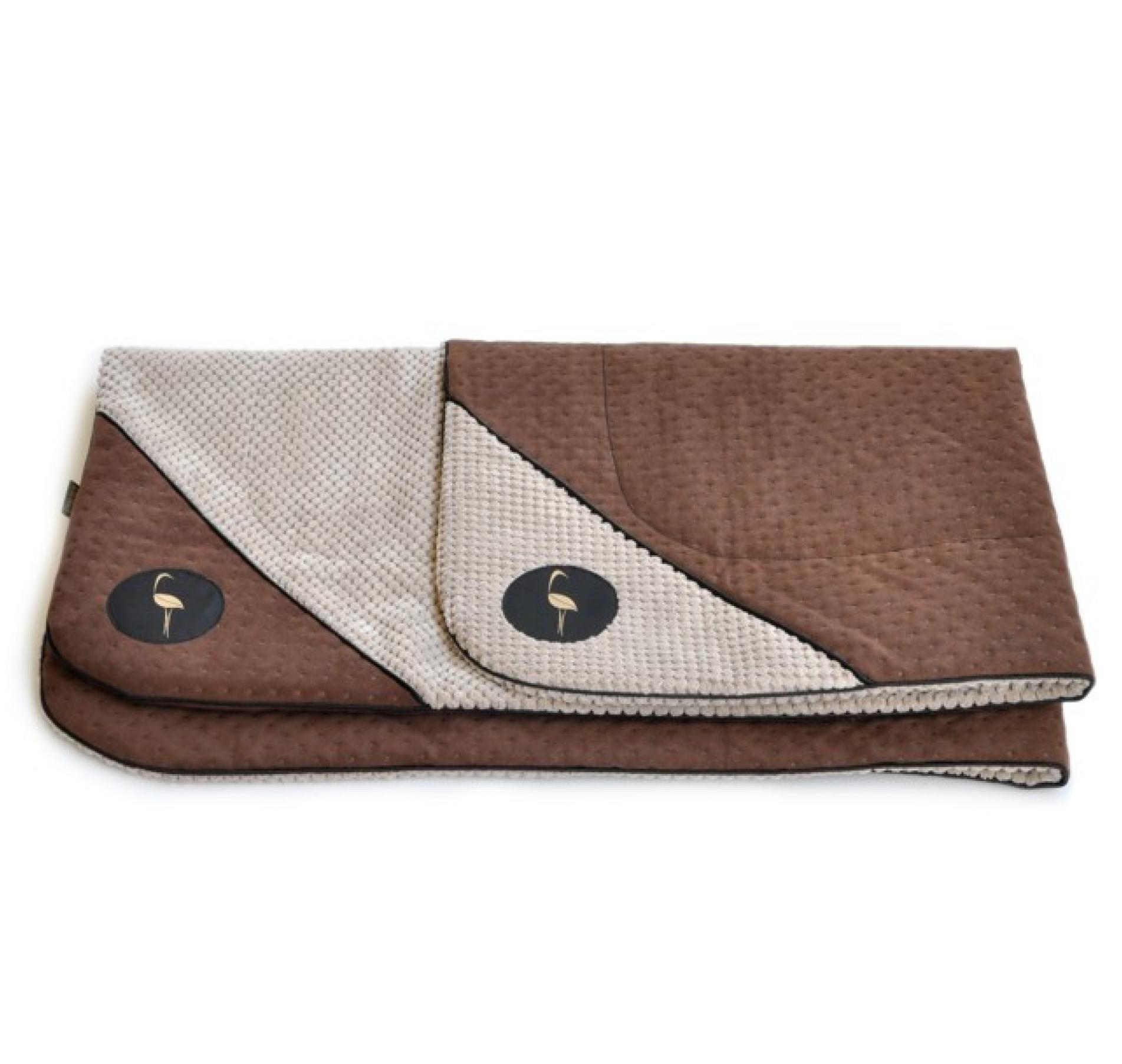 LAUREN design Mata DANTE brązowa pikowana + beżowa