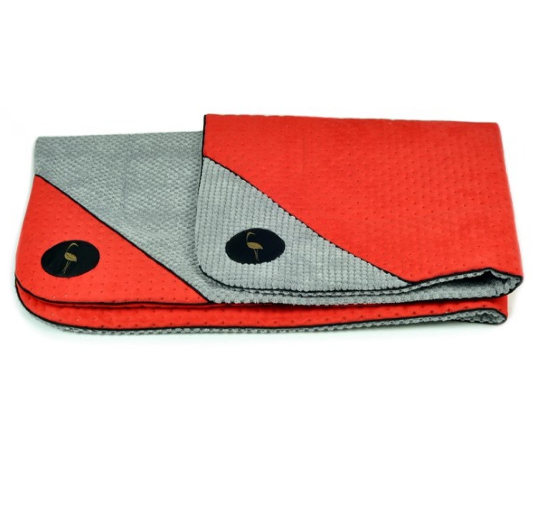 LAUREN design Mata DANTE czerwona pikowana + szara