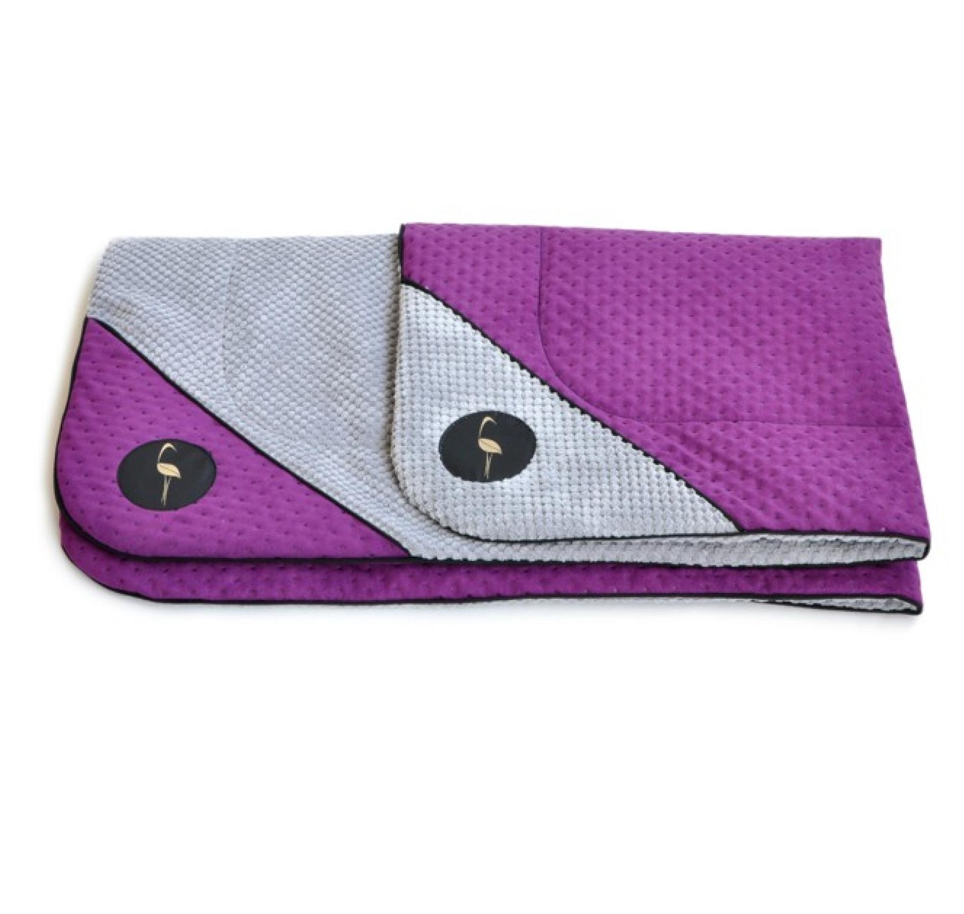 LAUREN design Mata DANTE fioletowa pikowana + szara
