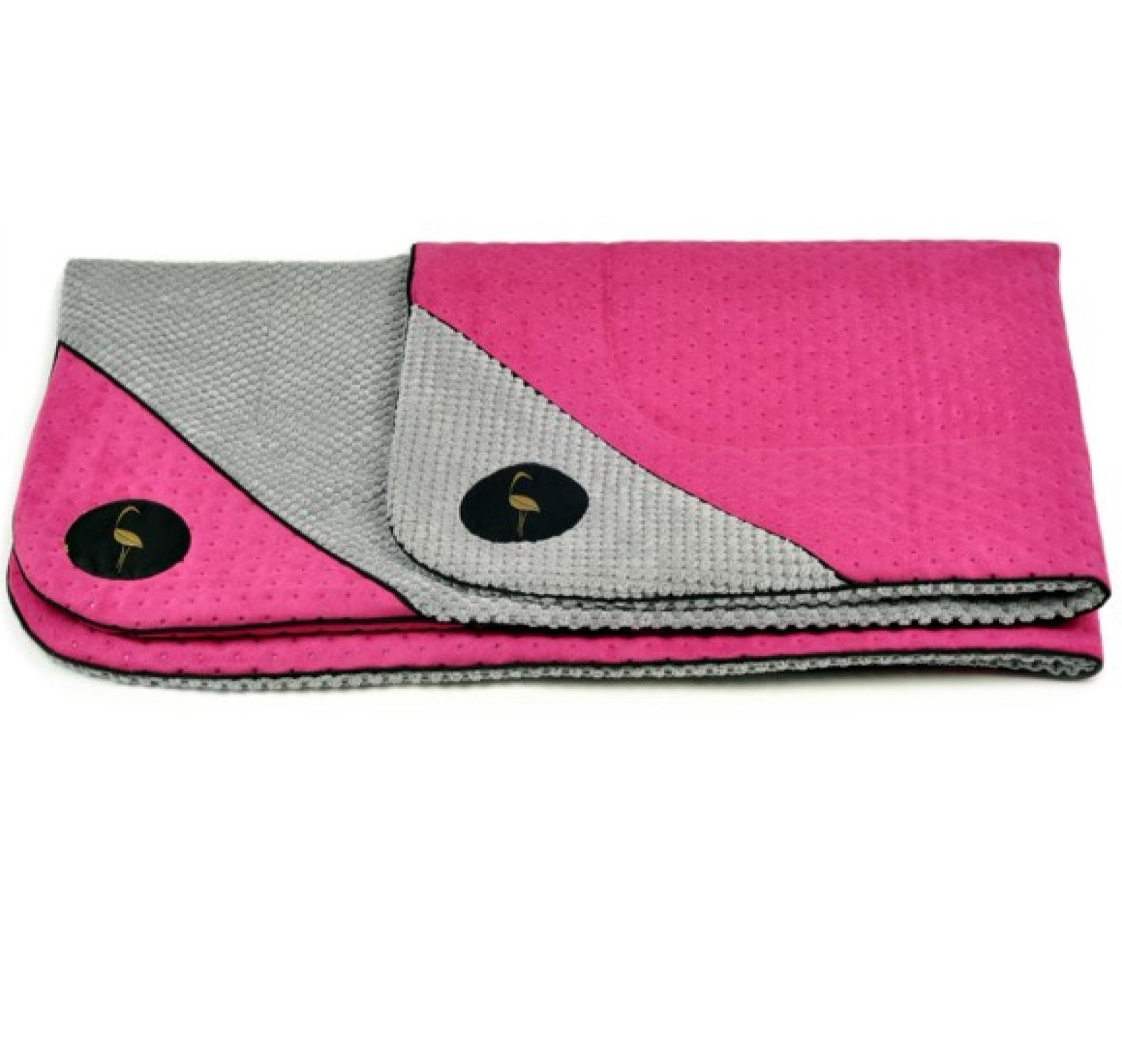 LAUREN design Mata DANTE różowa pikowana + szara
