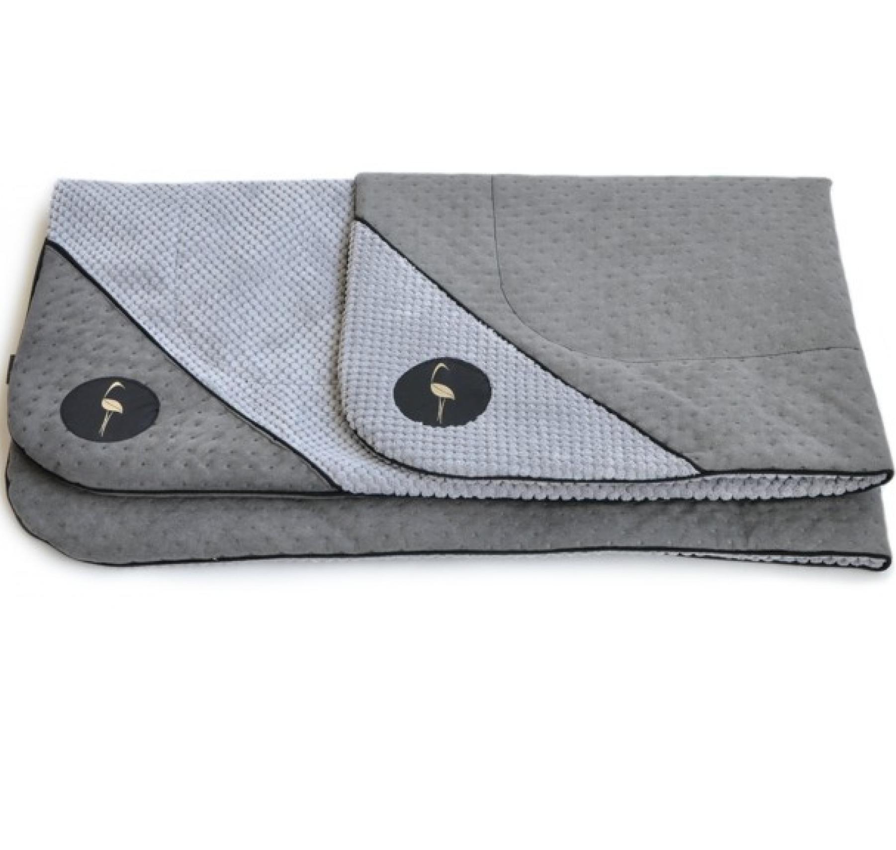 LAUREN design Mata DANTE szara pikowana + szara