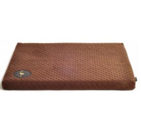 LAUREN design Materac DEMI brązowy pikowany 50/40 cm