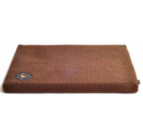 LAUREN design Materac DEMI brązowy pikowany 70/60 cm