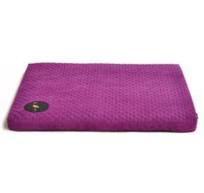 LAUREN design Materac DEMI fioletowy pikowany 100/80 cm