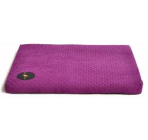 LAUREN design Materac DEMI fioletowy pikowany 50/40 cm
