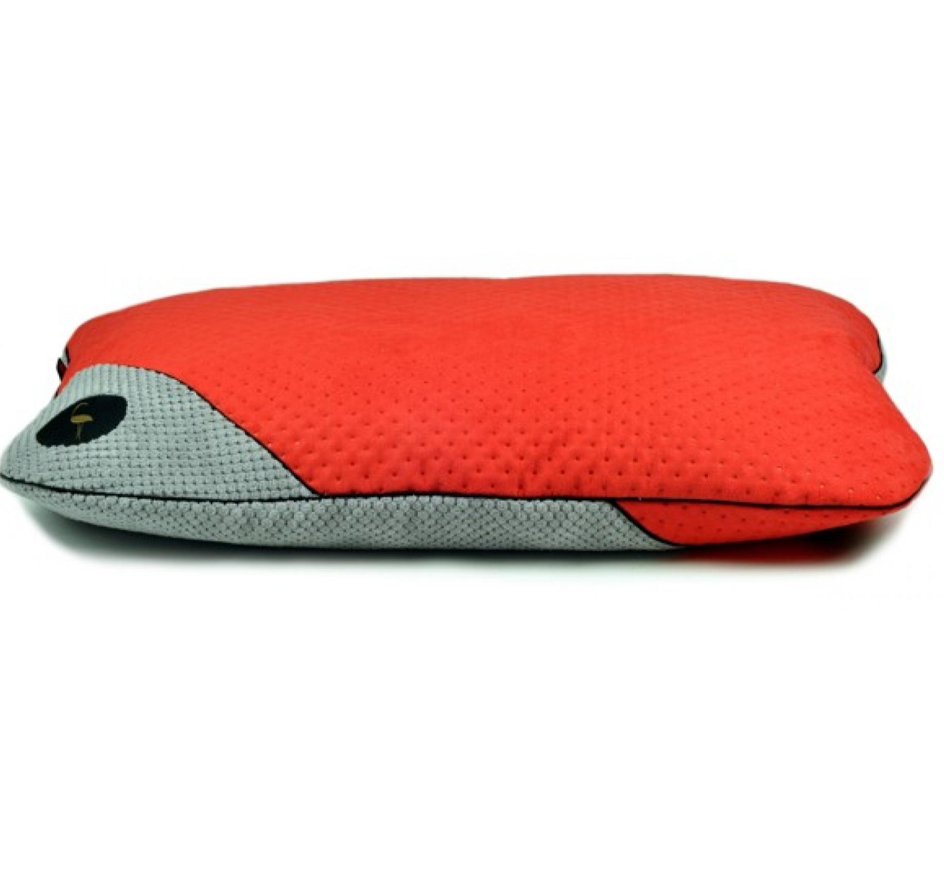 LAUREN design Posłanie FRIDA czerwone pikowane + szare 100/80 cm