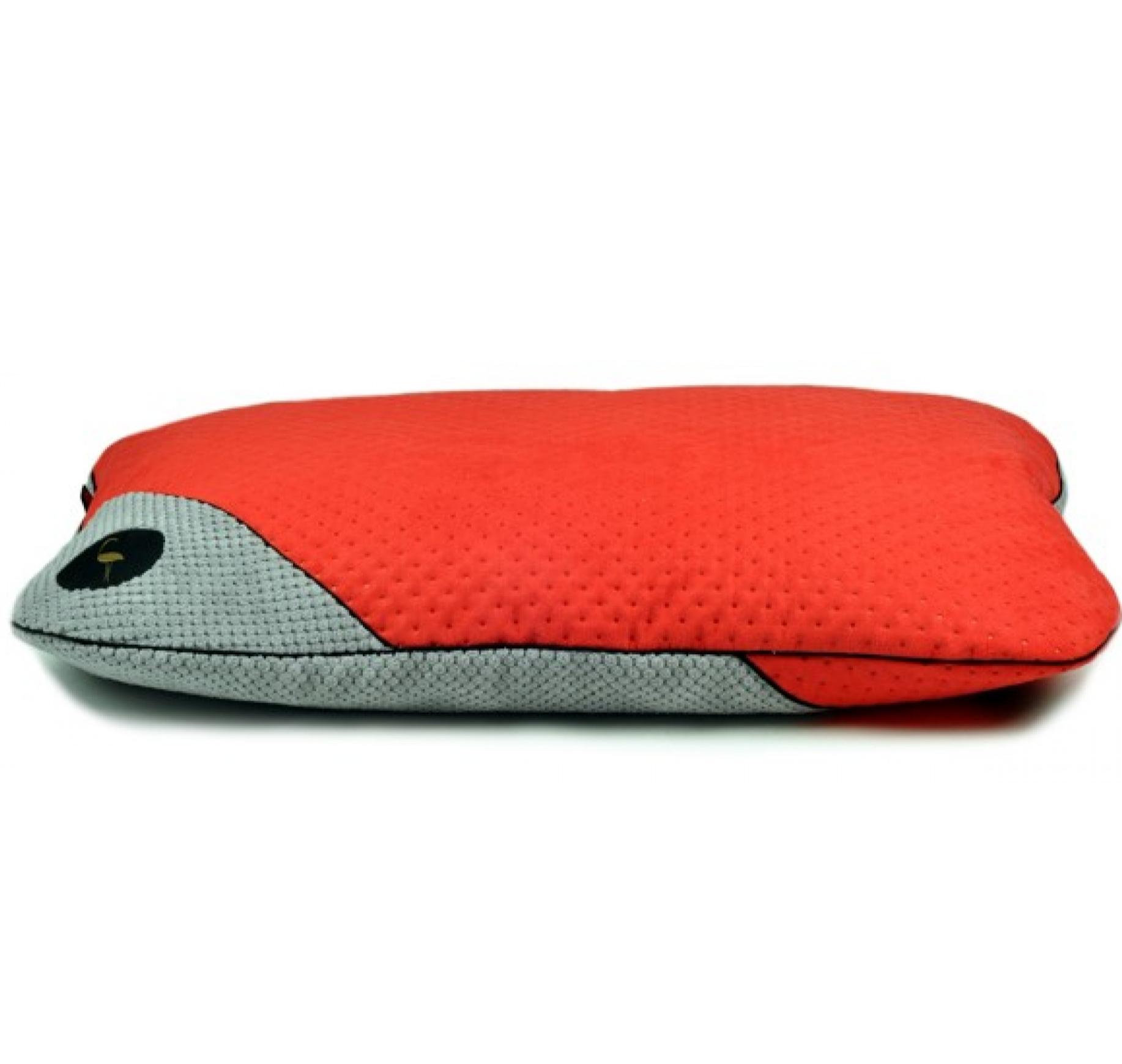 LAUREN design Posłanie FRIDA czerwone pikowane + szare 70/50 cm