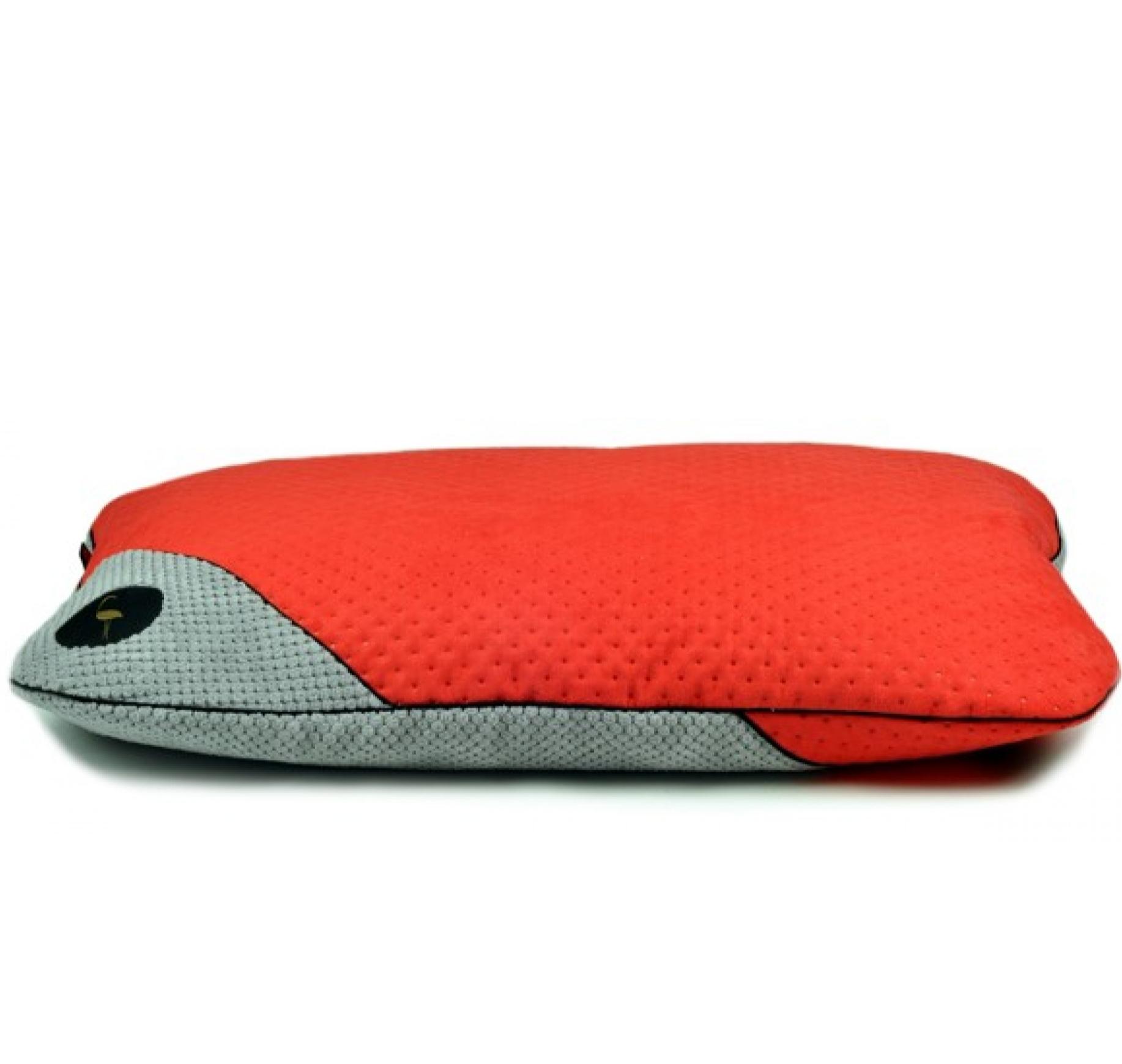 LAUREN design Posłanie FRIDA czerwone pikowane + szare 85/65 cm