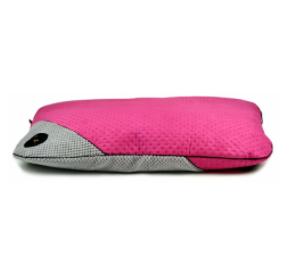 LAUREN design Posłanie FRIDA różowe pikowane + szare 70/50 cm