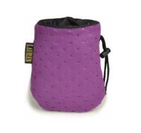 LAUREN design Saszetka treningowa fioletowa pikowana
