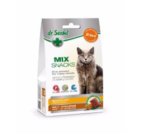 dr Seidel Smakołyki dla kotów MIX 2w1 na piękną sierść i odkłaczanie