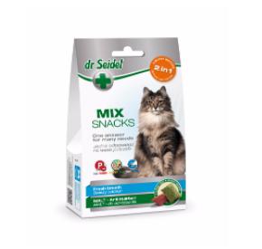 dr Seidel Smakołyki dla kotów MIX 2w1 na świeży oddech i odkłaczanie