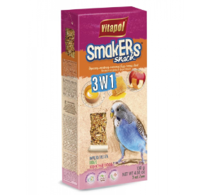 Vitapol Smakers potrójny dla papużki falistej: miodowy, jajeczny i owocowy