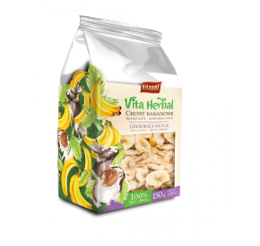Vitapol VitaHerbal chipsy bananowe dla gryzoni i królika